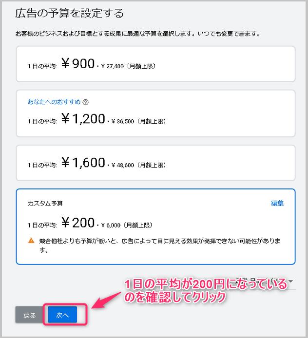 広告費の設定